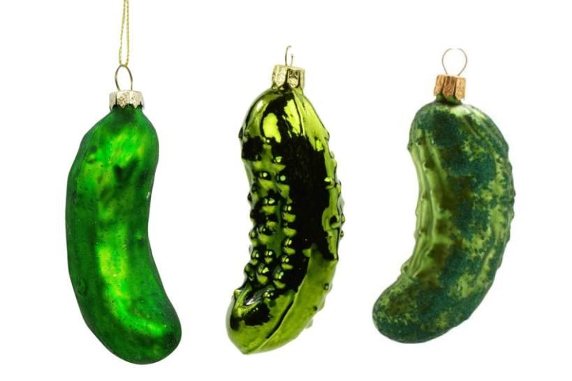 Pickle Christmas Tree Ornament