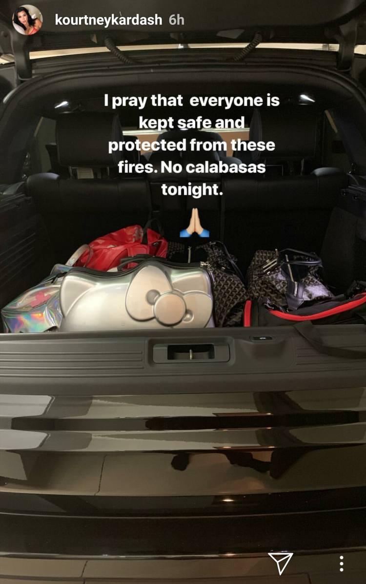 Kim Kardashian Was Forced To Evacuate Her Home As ...