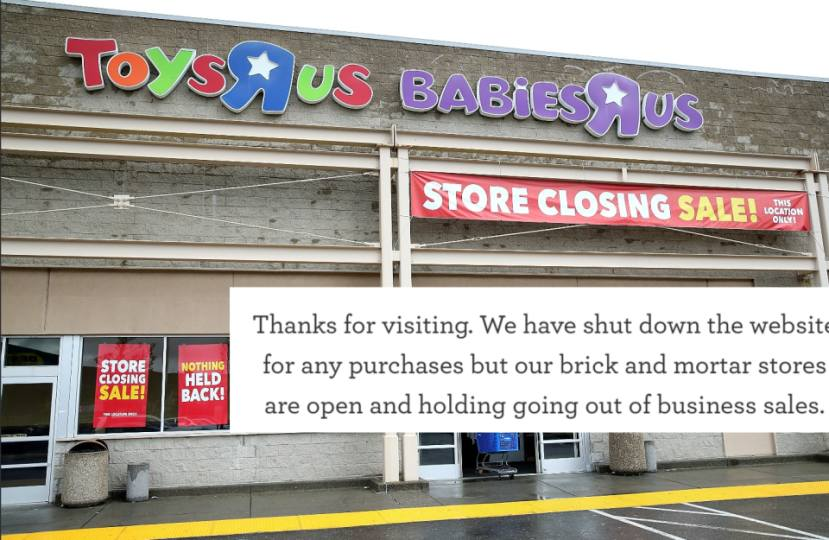 Toys R Us Website Has Shut Down Has A Sweet Message