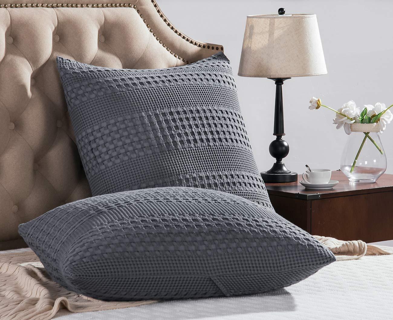 waffle weave pillow shams online