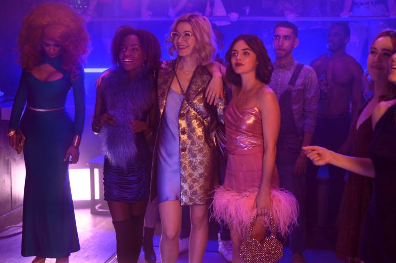 Ashleigh Murray as Josie McCoy, Julia Chan as Pepper Smith and Lucy Hale as Katy Keene in 'Katy Keene'