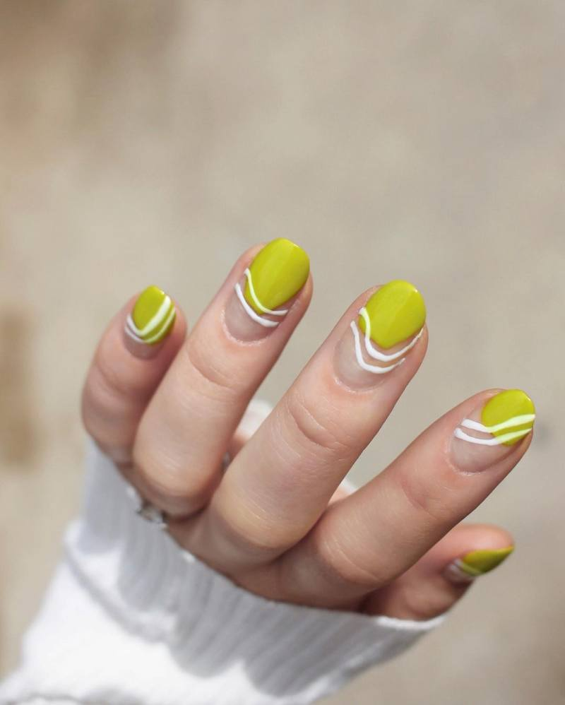 Pea Soup Nails Are The Nail Polish Trend You'll Be Seeing All Summer