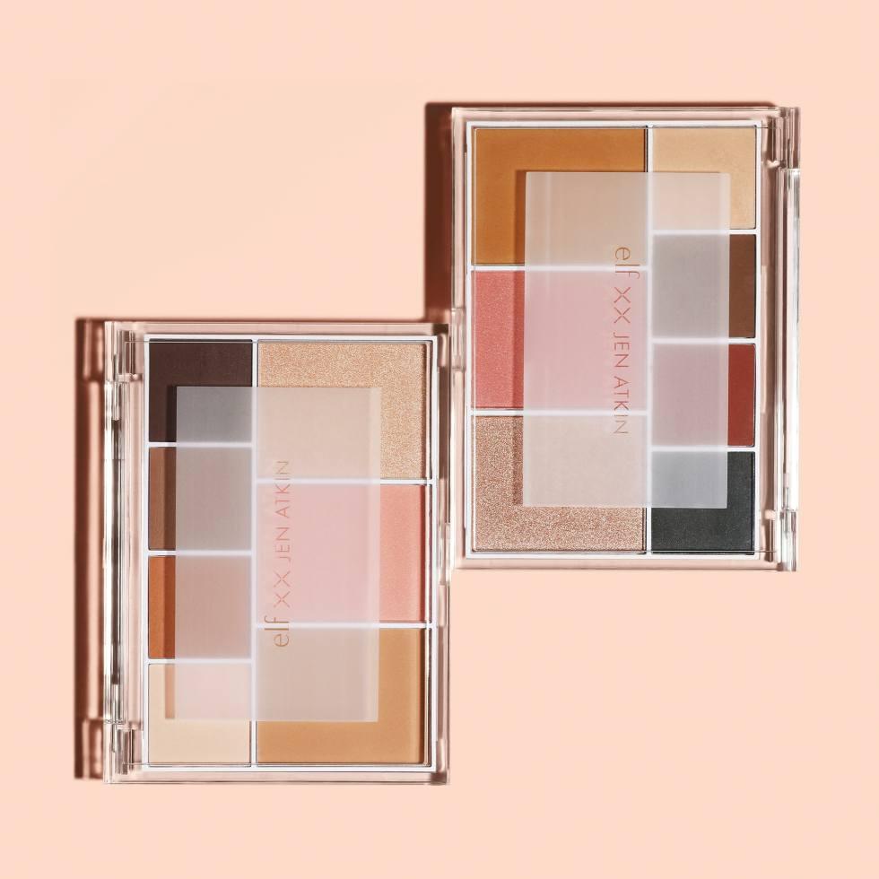 Représentation produit des deux palettes de la collection Jen Atkin x Elf Cosmetics