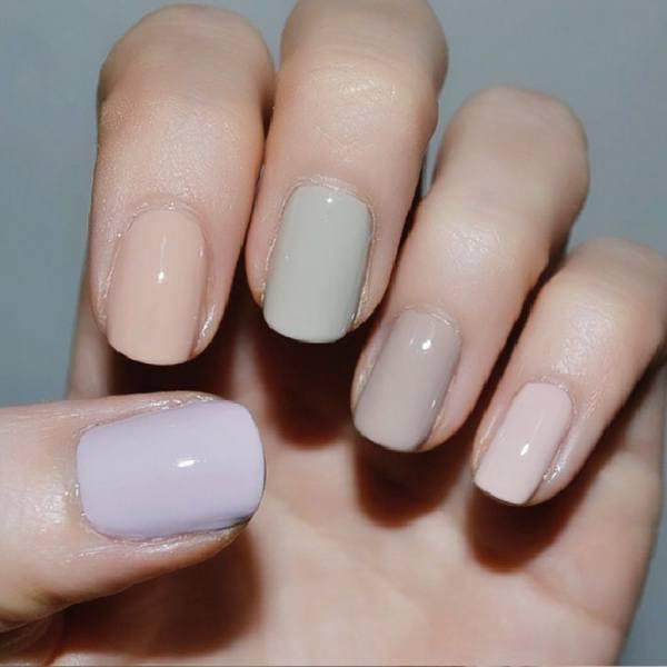 5 nail polish colors