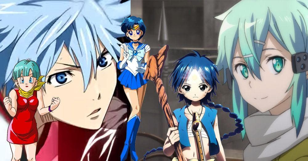 list of anime characters with blue