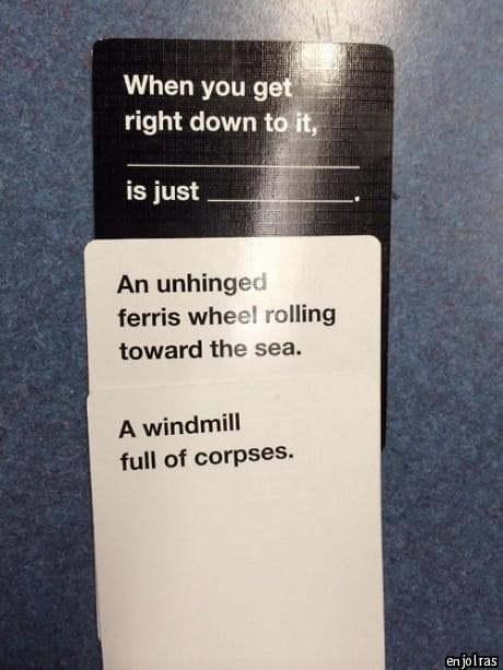 Image of: Meme Match Made In Factory Ranker 51 Hilariously Offensive Cards Against Humanity Moments