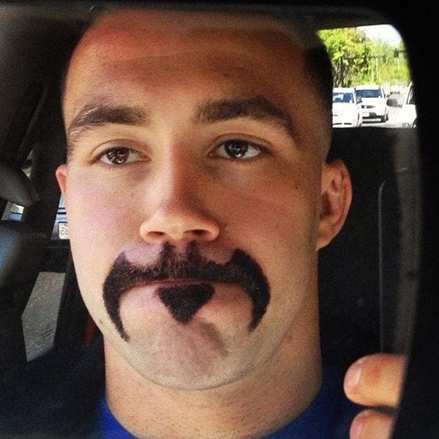 funniest facial hair design