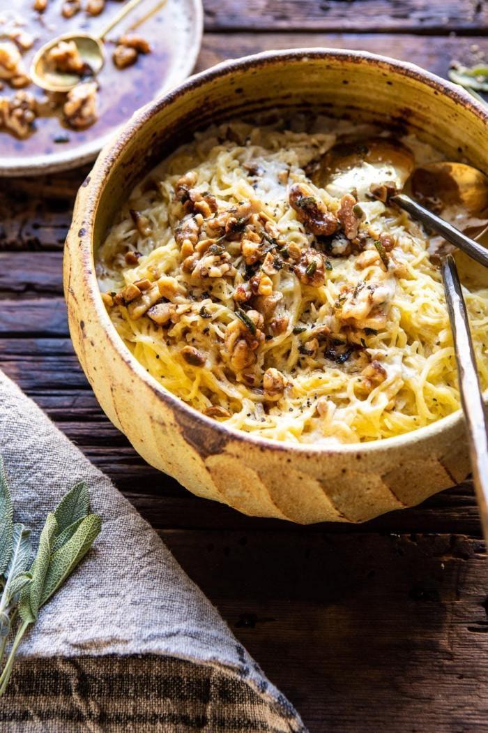 Vegetarian Thanksgiving spaghetti squash
