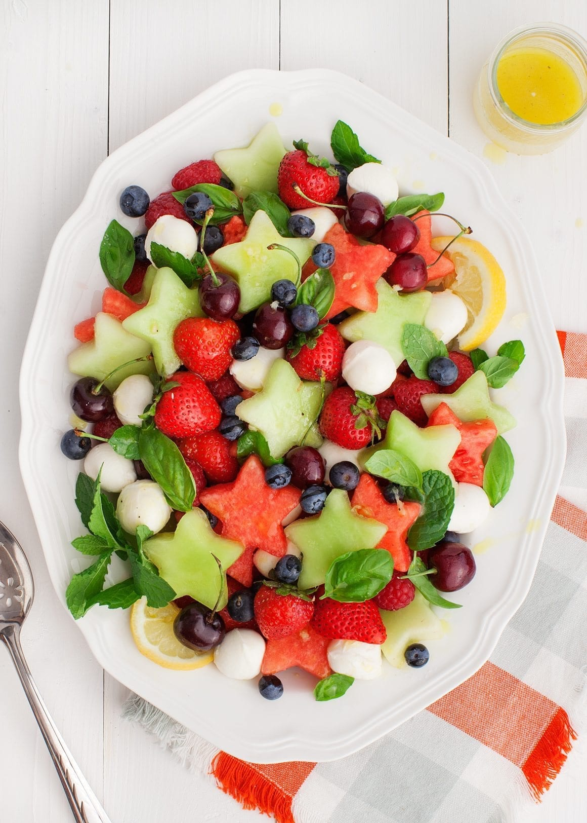 Festive Fruit Salad is an easy summer breakfast idea your kids will love.