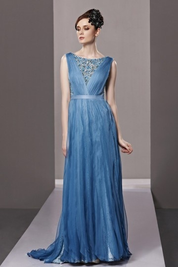 blue diamonds long formal dress