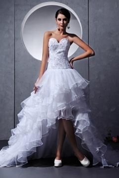 Rabatt Elegante Brautkleider Vorne Kurz Hinten Lang On PERSUN