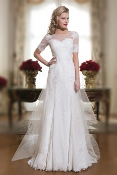 Zauberhaftes Modisches Brautkleider Mit Ärmel Günstig Sale