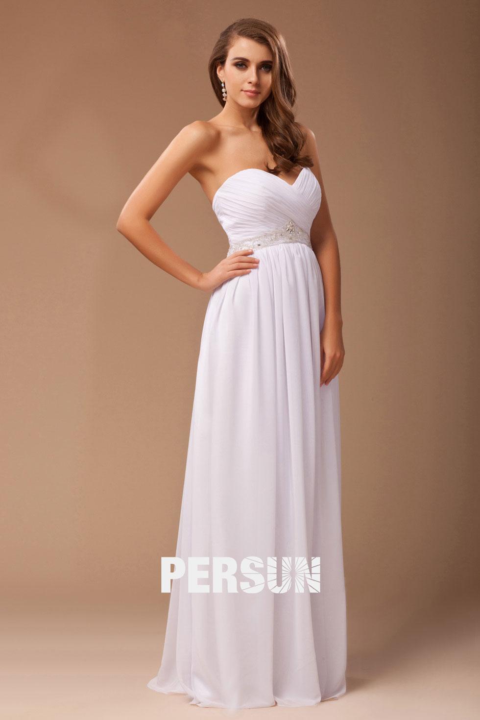 Elegantes HerzAusschnitt Perlen verziertes Brautjungfernkleid   925  Hochzeitsmode  online