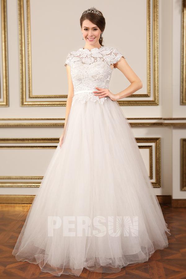 Elegant Prinzessin Tll Brautkleider mit Spitze verziert YXH0011  23848  Persunshopde