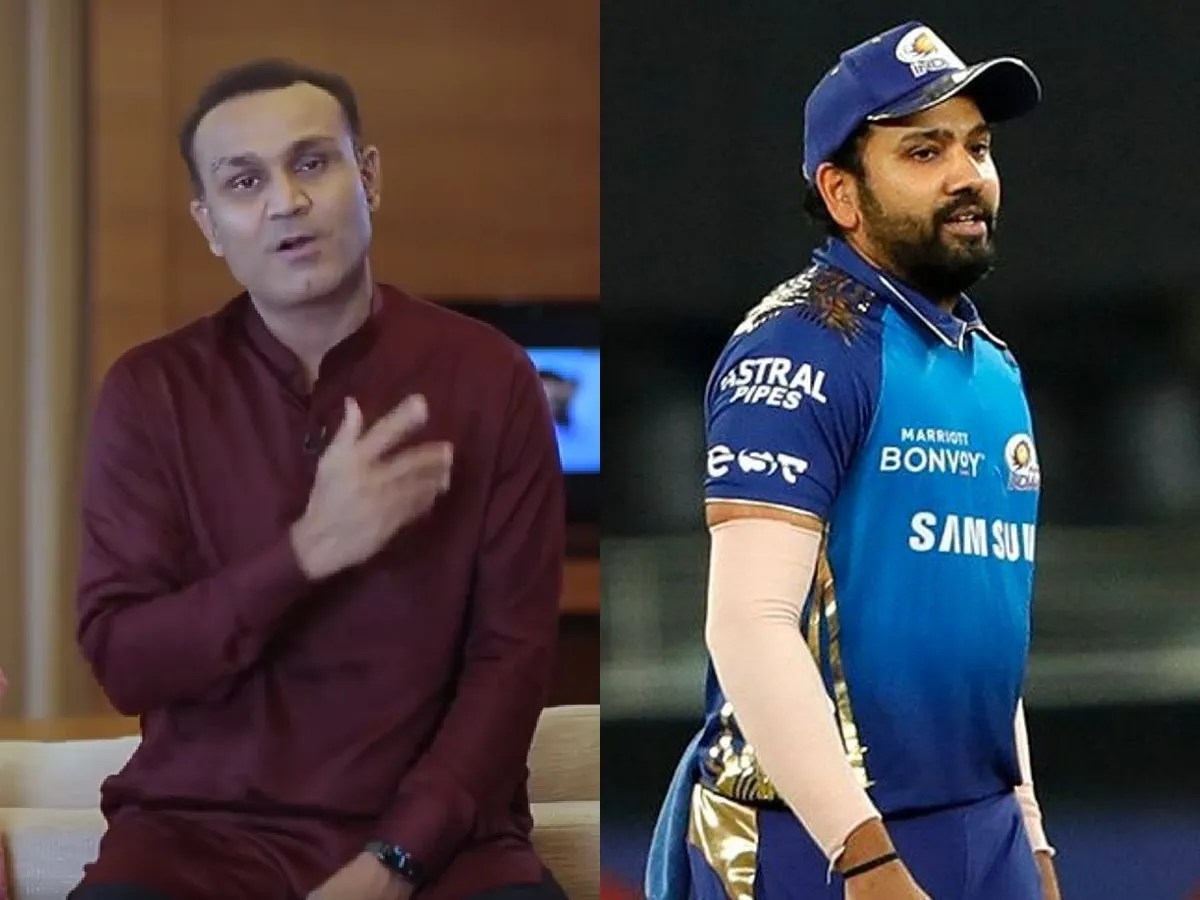 Virender Sehwag took a dig at Mumbai Indians captain Rohit Sharma's fitness.