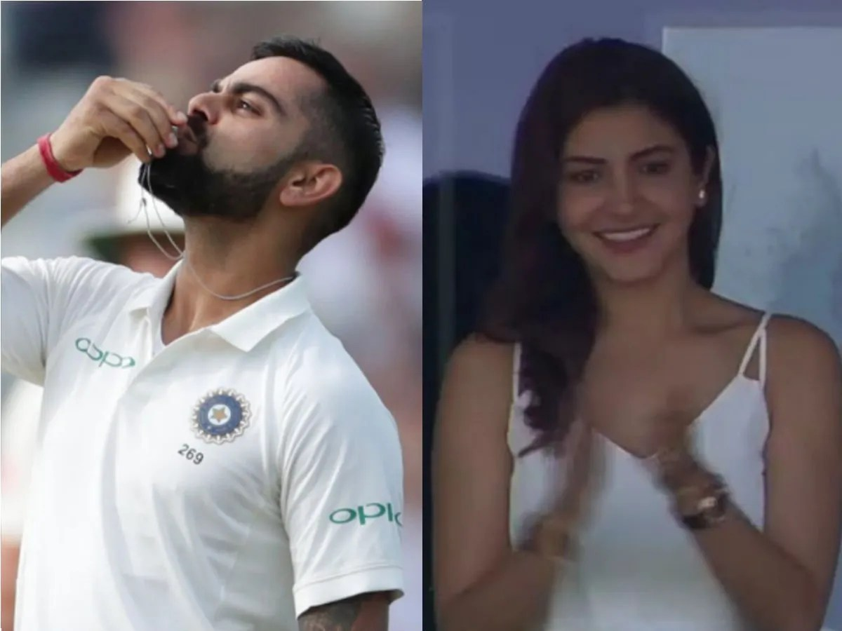 Virat's cute gestures from the field for wifey Anushka