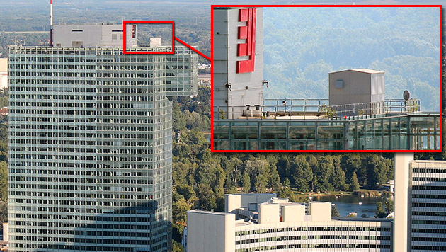NSA betreibt Abhörstation auf Wiener Hochhaus (Bild: Tuelp - CC BY-SA 3.0, Nomen Nescio CC BY-SA 2.0 AT)