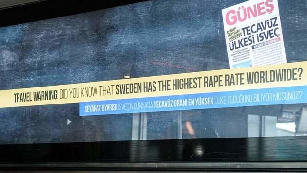 Türkei warnt: Schweden ein Land der Vergewaltiger (Bild: APA/AFP/Ozan Kose)