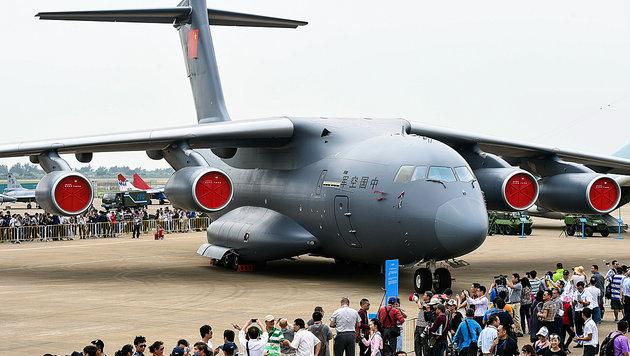 Ein chinesischer Y-20-Transport-Jet (Bild: AP)