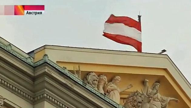 Der russische TV-Sender lästerte in einem längeren Beitrag über Österreichs Justiz. (Bild: Screenshot/YouTube.com)