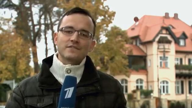 """Der Österreich-Korrespondent des russischen TV-Senders """"Perwy kanal"""" (Bild: Screenshot/YouTube.com)"""