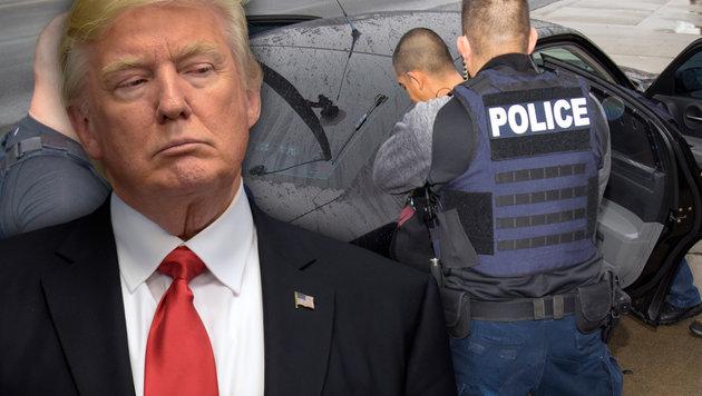 Trump schmeißt alle kriminellen Ausländer raus (Bild: AP/Susan Walsh, AP/Charles Reed)