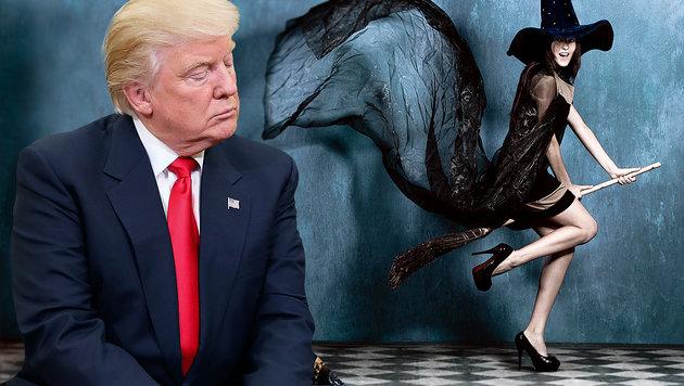 Hexen wollen Trump mit einem Fluch belegen (Bild: AP, thinkstockphotos.de)