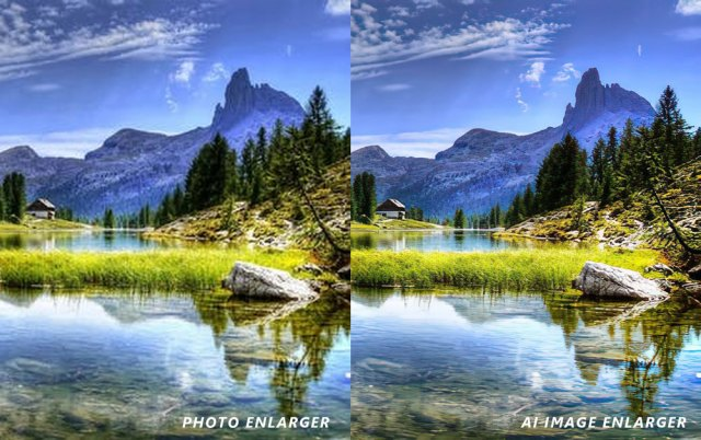 ai image enlarger is much better than photo enlarger