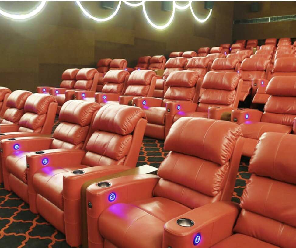 Reclining Chair Movie Theater Experience Cinema Like Never Before Recliner Seats 5 Star Lobby