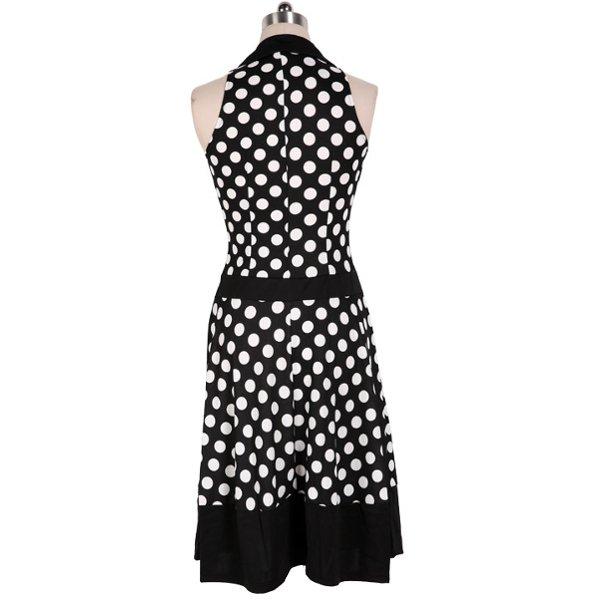 Dot Single Breasted Lapel Dresses