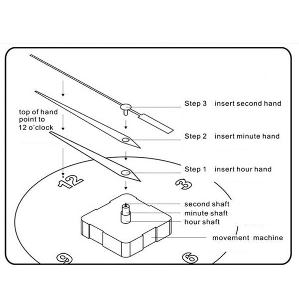 Quartz Clock Movement Mechanism DIY Repair Tool Battery