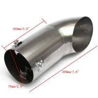 Car Exhaust Tail Pipe Polished Stainless Steel Trim Chrome ...