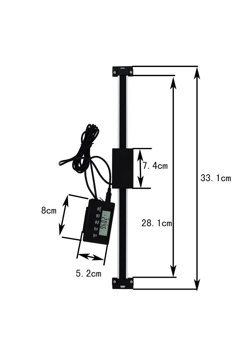 0-200mm 0.01mm Remote Digital Readout linear Scale