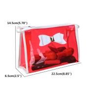 Transparent PVC Makeup Bag Bow Tie Travel Cosmetic Handbag ...