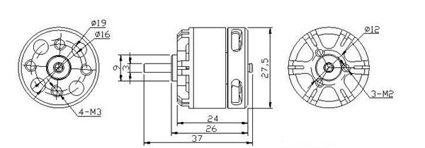 DYS BGM2208 70T Brushless Gimbal Motor For Gopro3 3+ FPV