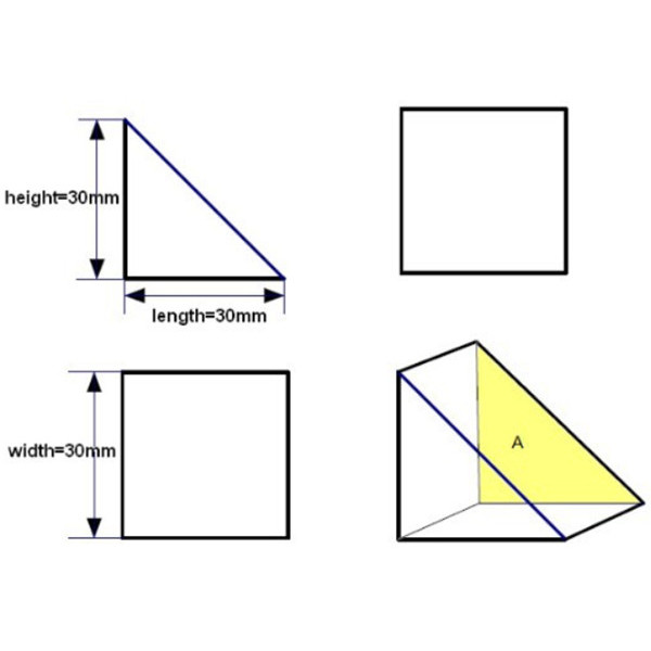 Light Spectrum Prism Educational Optical Prism Basic