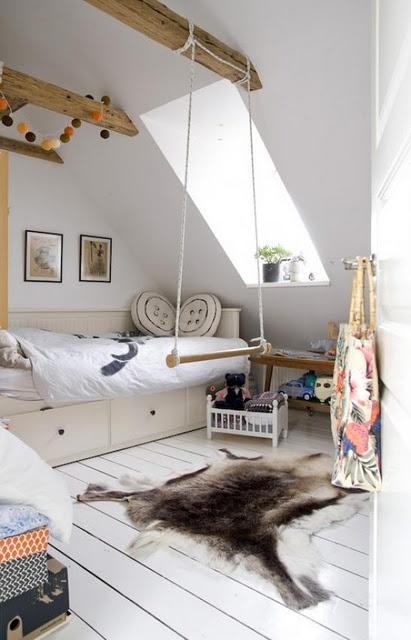 Drewniane belki na poddaszupokj dla dziecka  zdjcie w serwisie Lovingitpl 36565