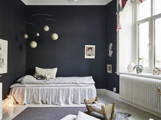 Pinterest Girls Kids Rooms With Wood Wallpaper Czarne ściany W Pokoju Dziecięcym Zdjęcie W Serwisie
