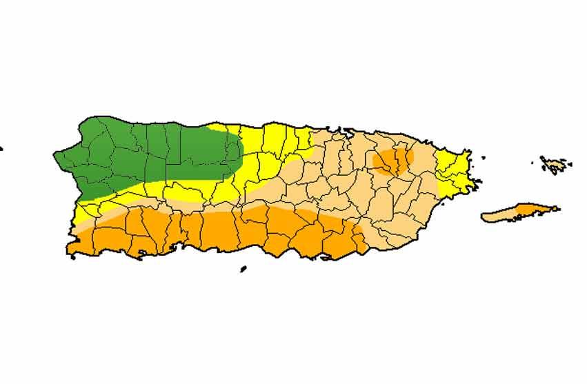 Se expande sequía moderada, mientras sequía severa y anómala muestran leves bajas