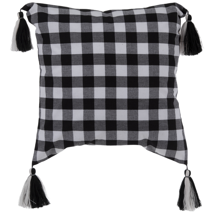 buffalo check pillow cover with tassels hobby lobby