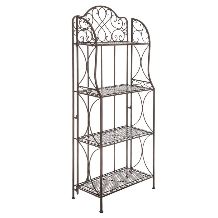 antique bronze four tiered metal baker s rack hobby lobby 543686