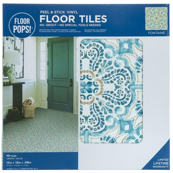 fontaine peel stick vinyl floor tiles hobby lobby 1879113
