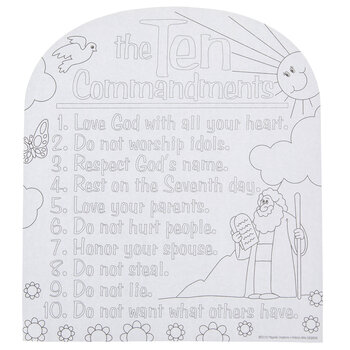 Ten Commandments Coloring Sheets Hobby Lobby 1230333