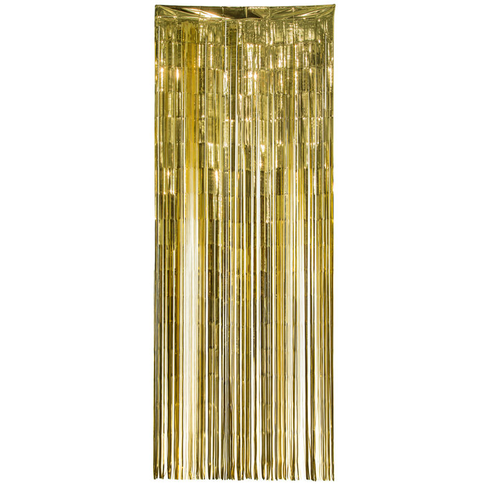 gold mylar door curtain