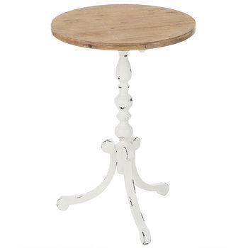 white farmhouse pedestal metal accent table hobby lobby 1727270