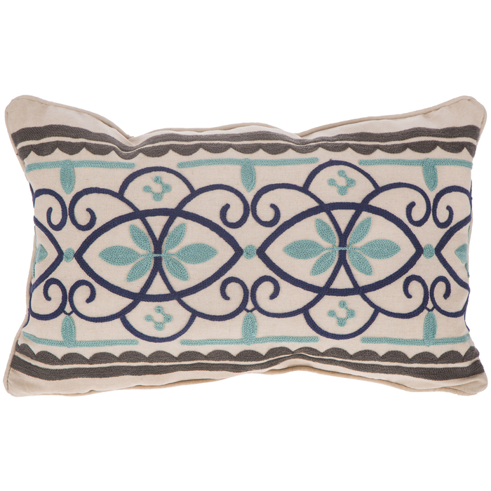 embroidered flourish pillow cover hobby lobby 1592344