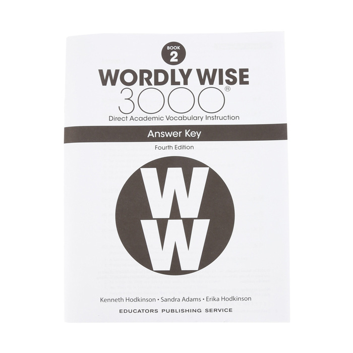 Wordly Wise 3000 4th Edition Answer Key Book 2, Paperback