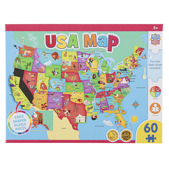 The us has its own national capital in washington dc, which borders virginia and maryland. Masterpieces Usa Map With State Capitals Jigsaw Puzzle 60 Pieces 16 1 2 X 12 3 4 Inches Mardel 3920196