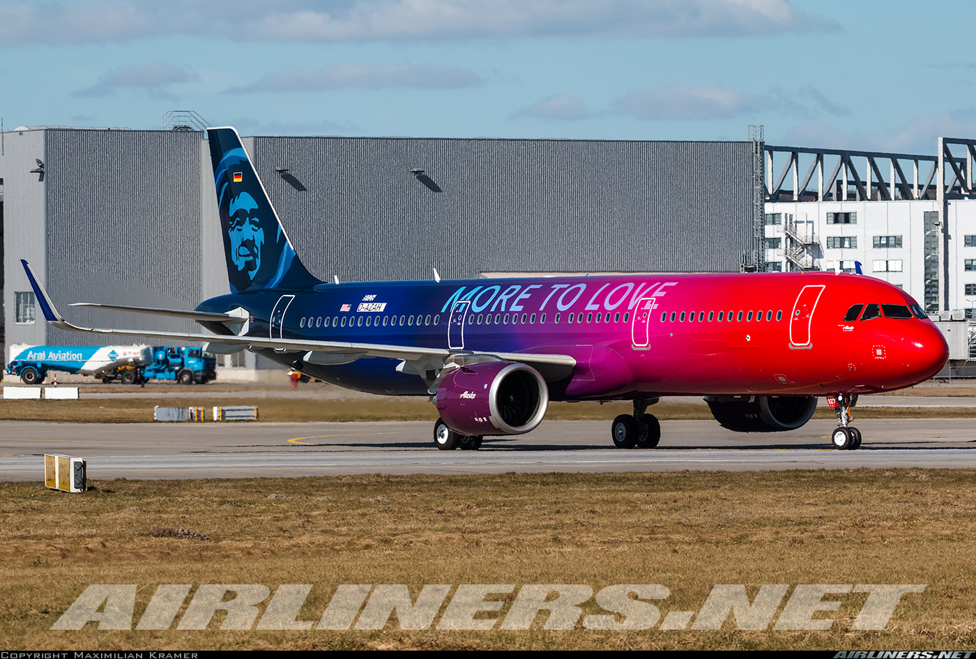 Airbus A321 251n Alaska Airlines Aviation Photo