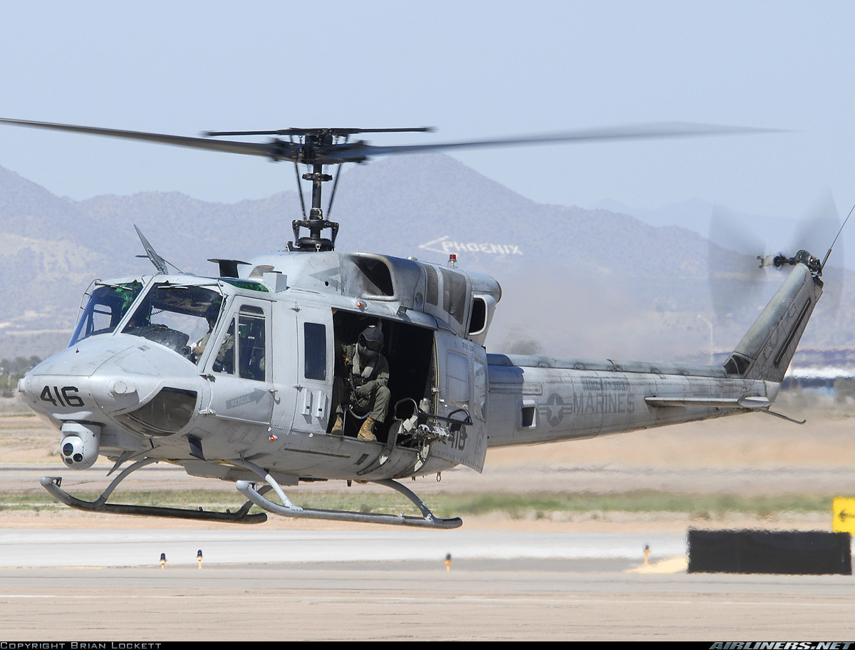 Bell UH1N Iroquois 212  USA  Marines  Aviation Photo